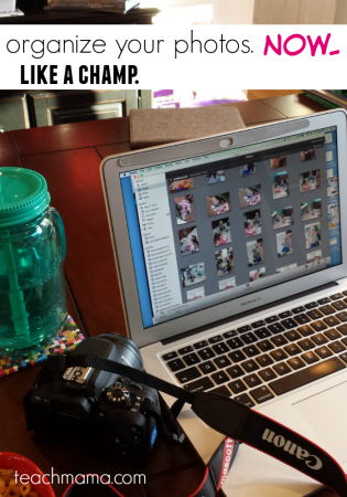 be a photo superstar: organize your photos now, for the year