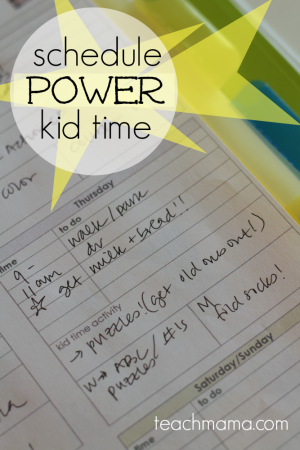 how to schedule power kid time into your every day | a weekly organizer designed to make kid time a focus