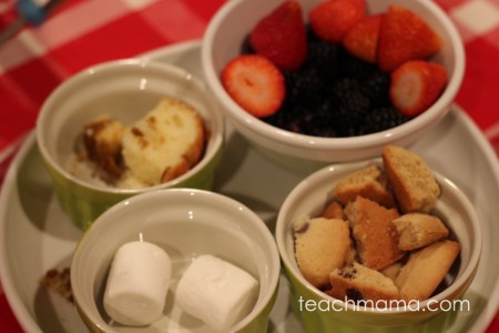 how to do a family fondue night: teachmama.com