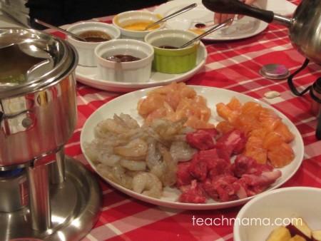 how to do a family fondue night: teachmama.com