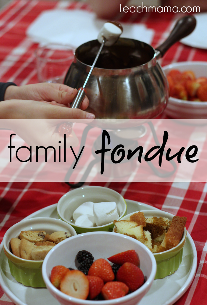 how to do a family fondue night: special occasion dinner