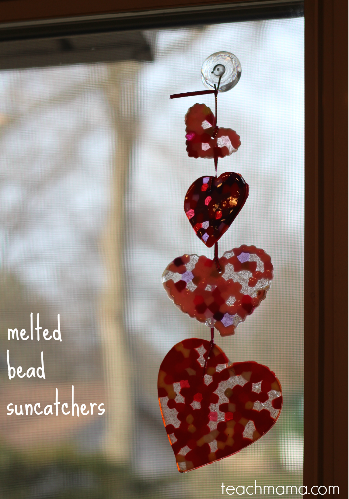 melted bead suncatcher  the artful year  teachmama.com