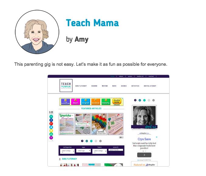 top mommy blogs | teachmama.com