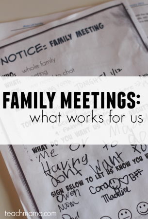 how to have a family meeting: what works for us