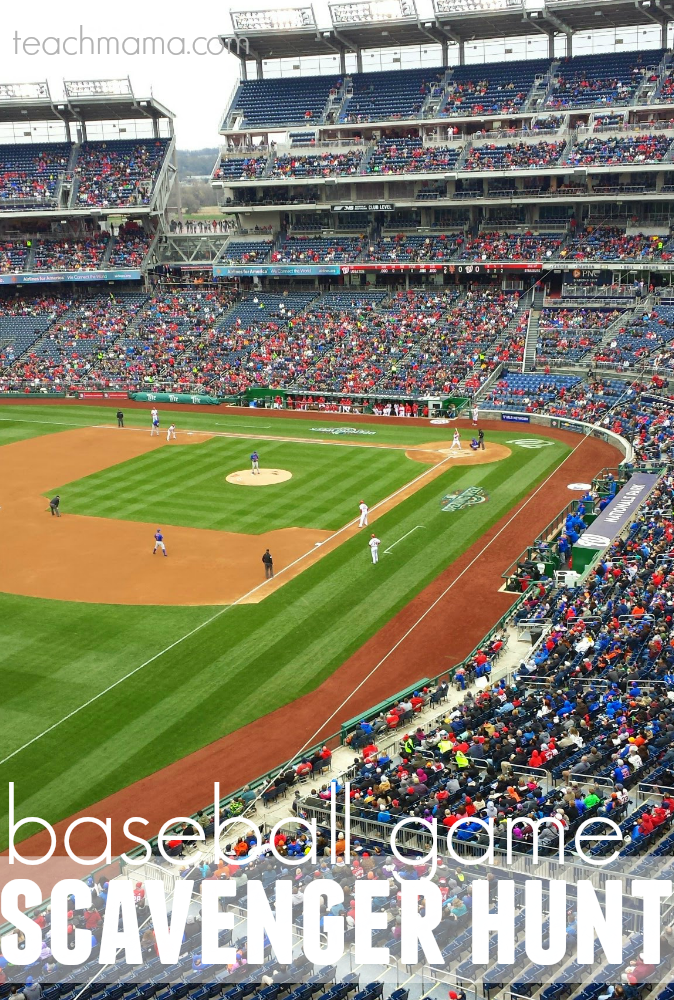 baseball game scavenger hunt | teachmama.com