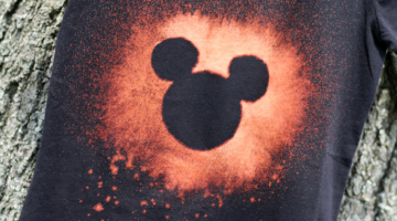 bleached out disney t-shirts for the not-so-crafty crafter