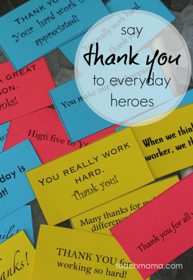 teaching kids to say 'thank you' to everyday heroes