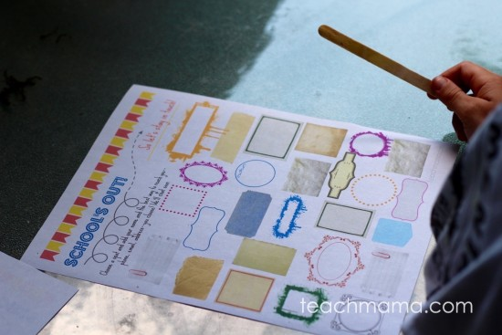 help kids stay in touch with friends when school's out: autograph sheet teachmama.com