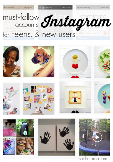 cool instagram accounts for tweens and new users to follow