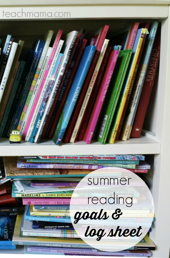 summer reading goals & reading logs: quick and easy