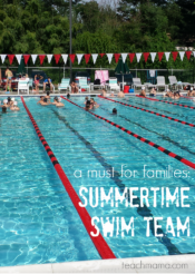 summer swim team: an absolute MUST for families