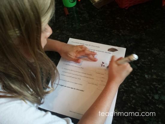 chocolate math: age by chocolate | teachmama.com