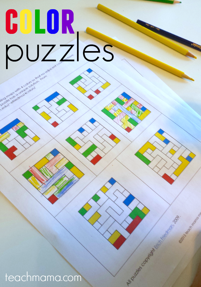 color puzzles: fun math and logic for kids - teach mama