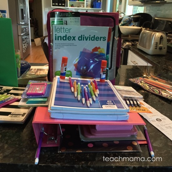 school supply shopping  teachmama.com 2