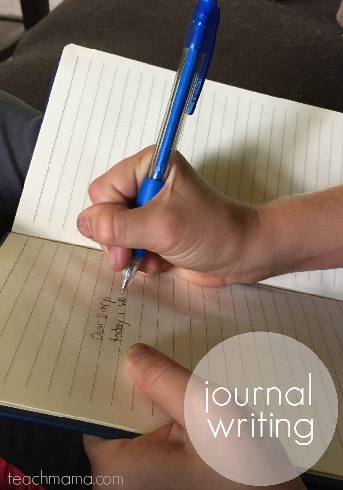 get kids writing | journal | teachmama.com