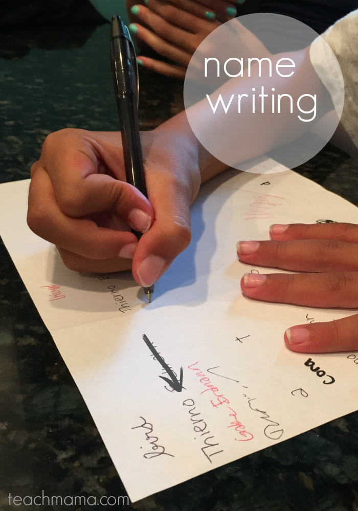 get kids writing | name | teachmama.com