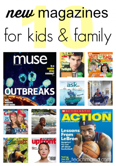 top 10 NEW magazines for kids and family