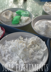 soap experiments: easy backyard summer fun
