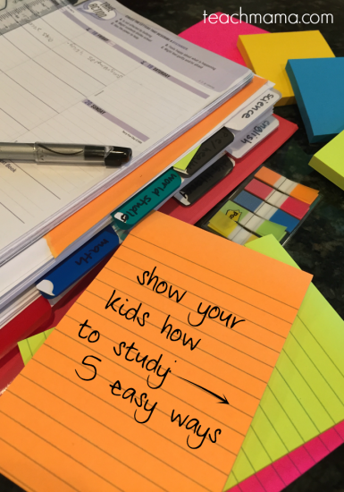 show your kids how to study: 5 easy ways
