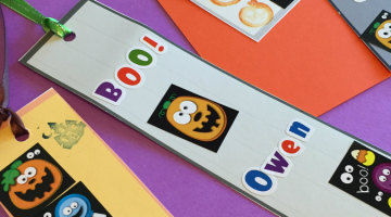 halloween bookmarks: make your own