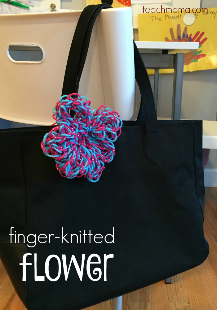 5 cool handmade gifts that tweens love to make finger knitted flower teachmama.com