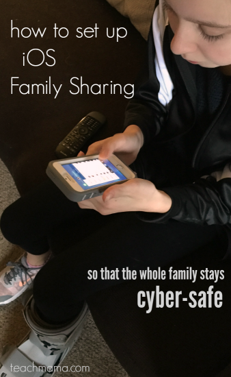 how to set up iphone for family sharing so that the whole family stays cyber safe