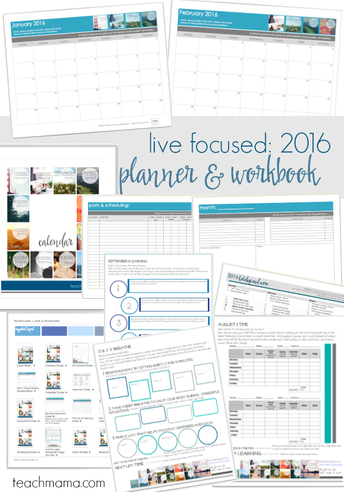 live focused planner workbook teachmama.com
