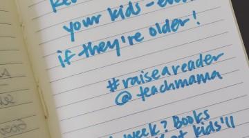 reading tip 4: read to BIG kids #raiseareader