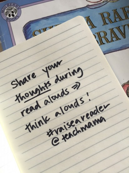think aloud while reading — here's how! reading tip 9 #raiseareader