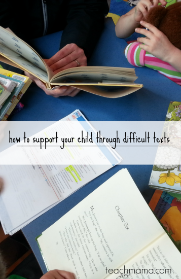 how to support your child through difficult texts