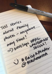 use family photos to develop oral language skills: reading tip 12 #raiseareader