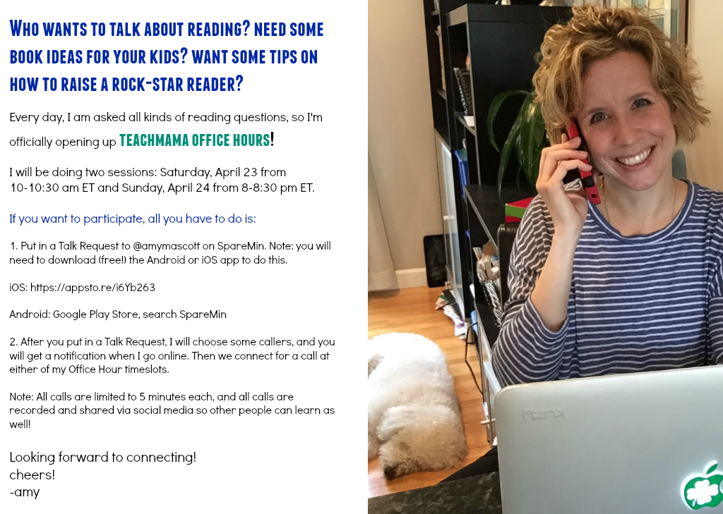 teachmama office hours | chat with amy mascott about reading!