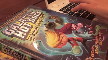 fun new series for reluctant readers: Galactic Hot Dogs
