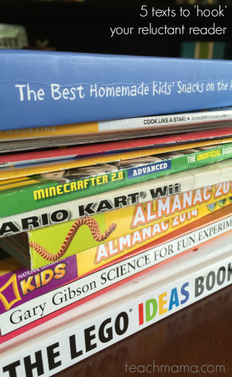 5 books to 'hook' your reluctant reader