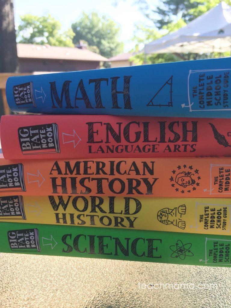 big fat notebook middle school study guide | teachmama.com