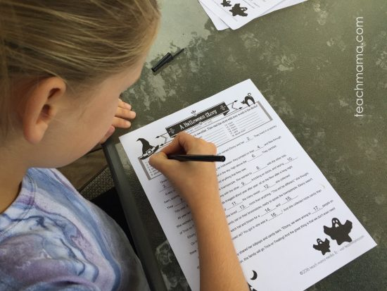 Halloween Mad Lib -- Spooky Fill-In Story for Halloween Fun: teachmama.com