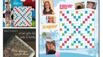 personalized board games: scrabble and monopoly || 12 days of smart gifts for kids & family