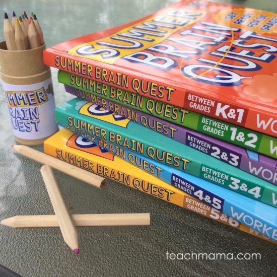 make summer learning rock! Summer Brain Quest Workbooks from Workman Publishing #BrainQuest | summer learning | stop the summer slide | teachmama.com