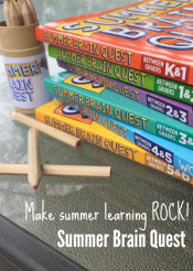 make summer learning ROCK with free bookmarks and Summer Brain Quest