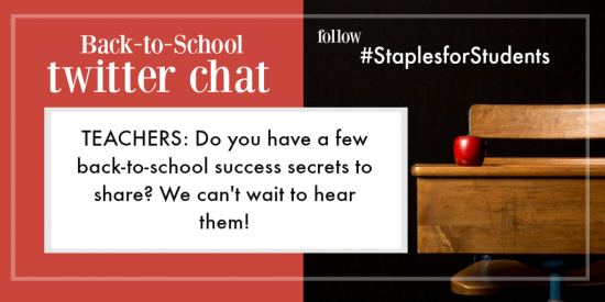 staples for students twitter event 8.8