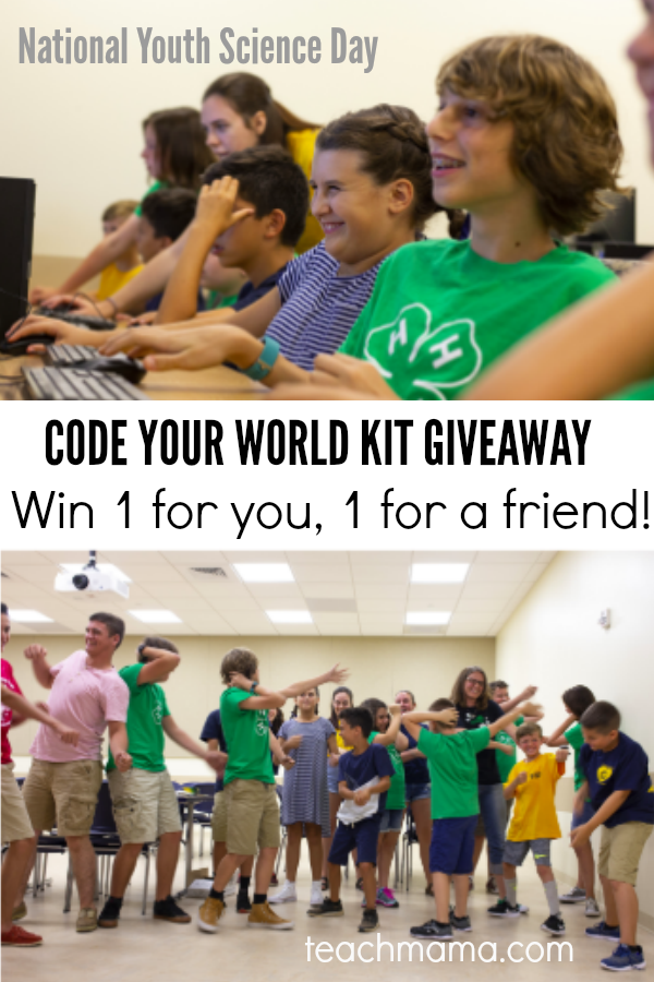 national youth science day: code your world kit giveaway
