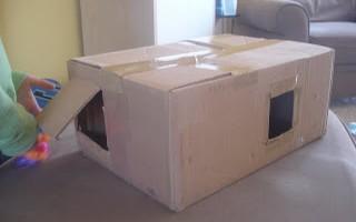 once, big old box. . . now, sensory box!