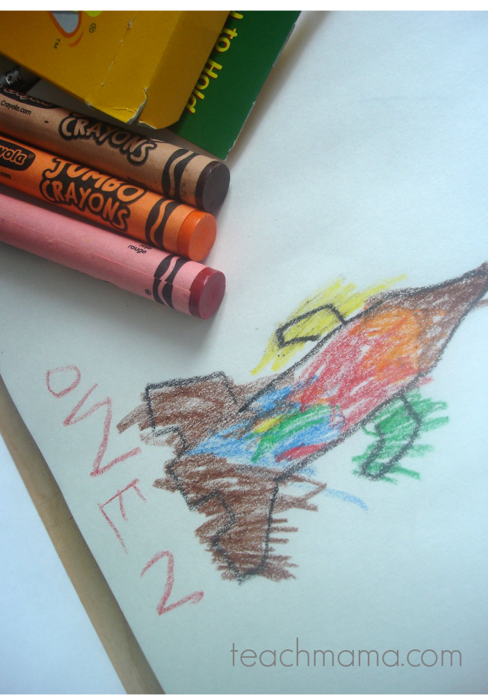 owen's got grip: using large crayons to help support tripod grip