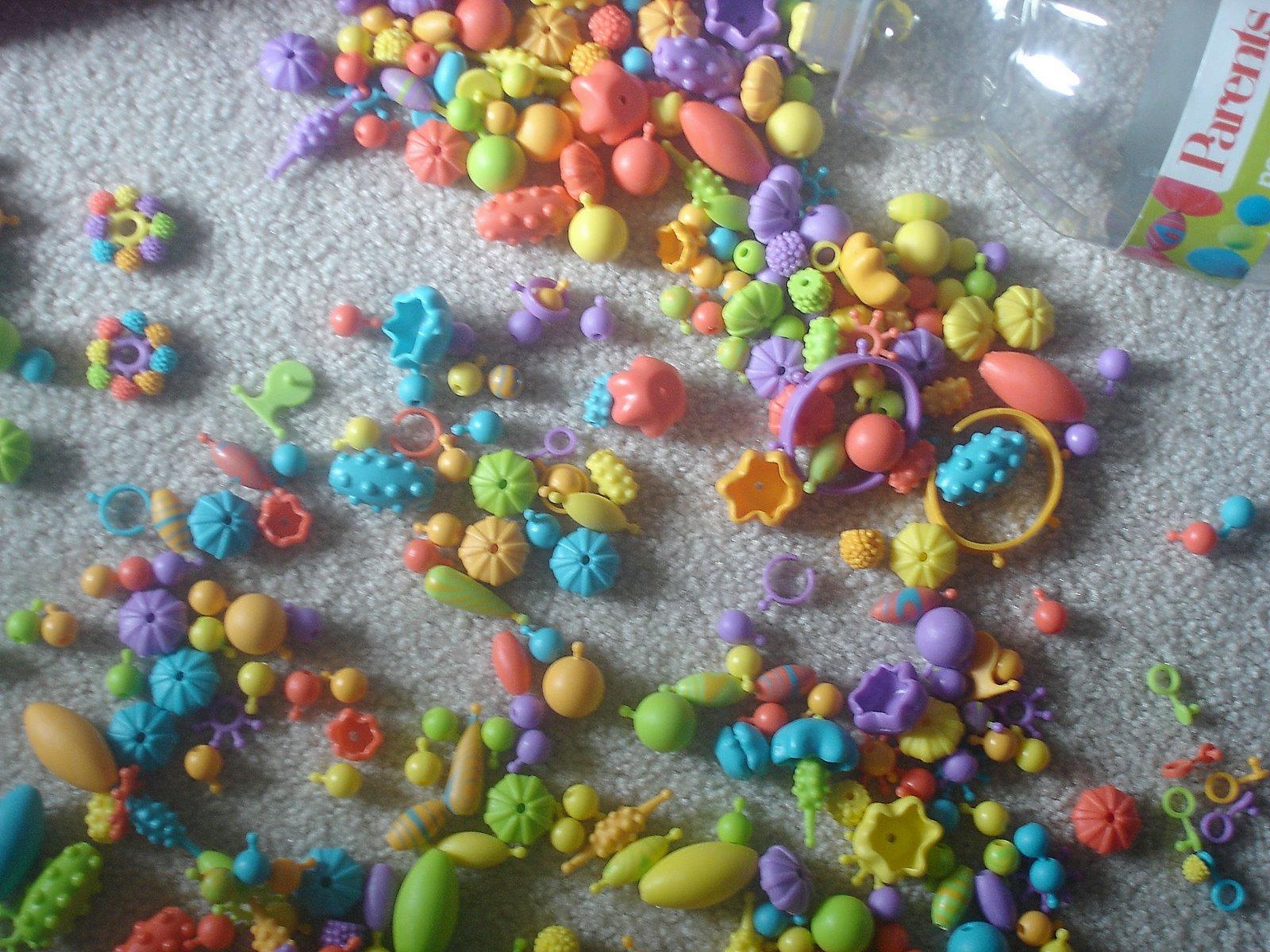 pop beads for fine motor skill work