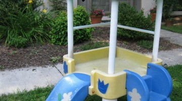 beautified baby slide | outdoor fun @teachmama.com