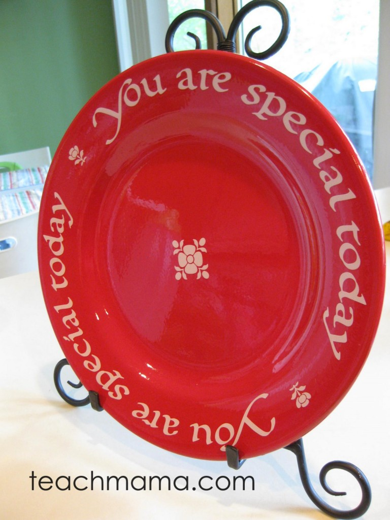 the special plate | celebrate success as a family | teachmama.com