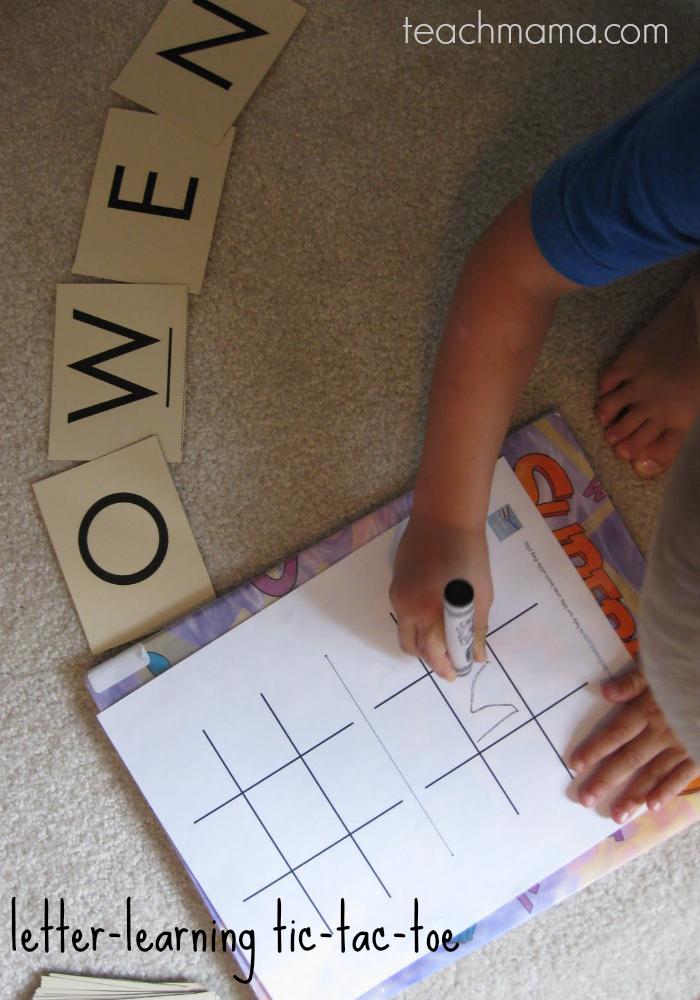 letter learning tic tac toe | teachmama.com