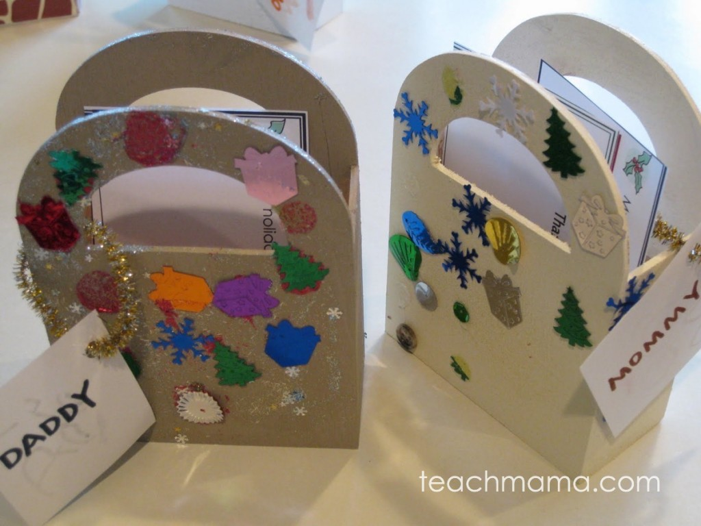 wooden holiday note bags painted