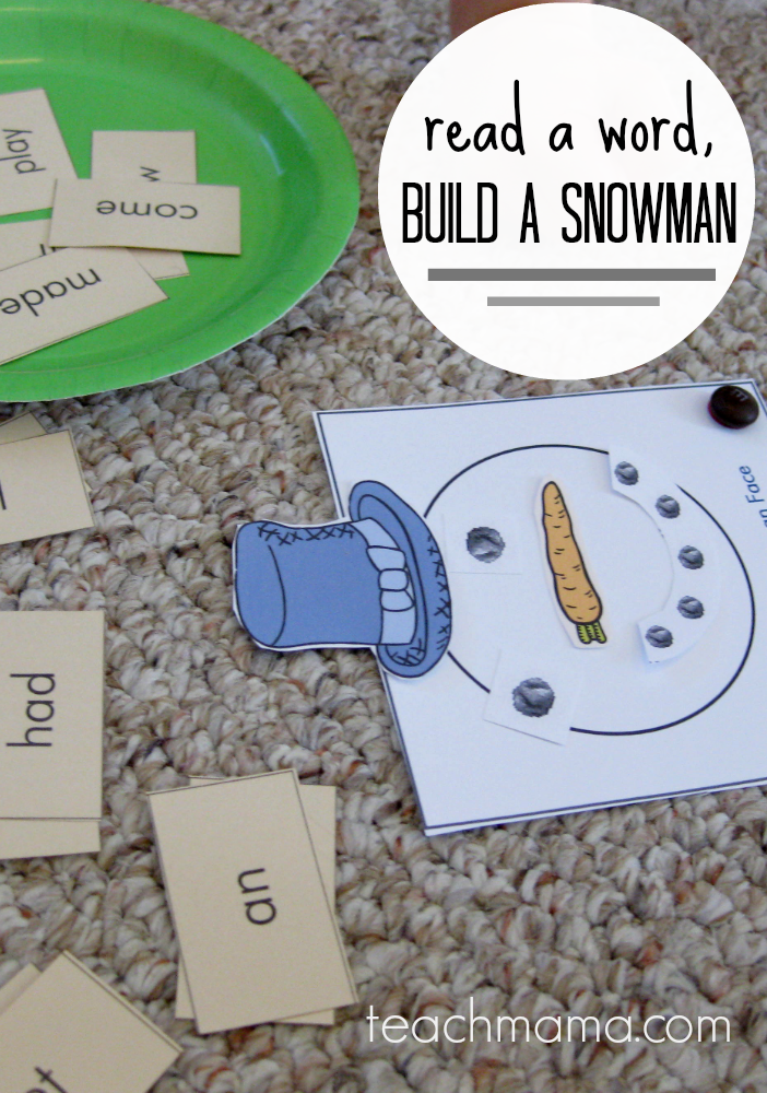 read a word, build a snowman | teachmama.com