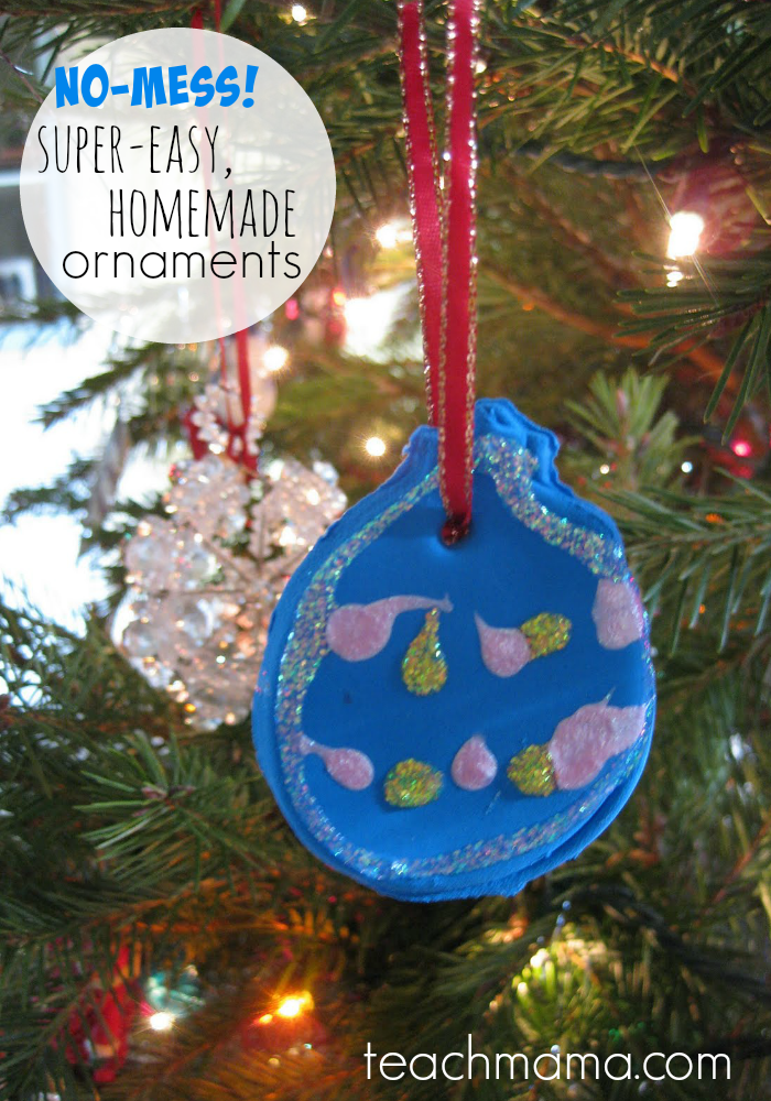 super easy, no-mess ornaments teachmama.com